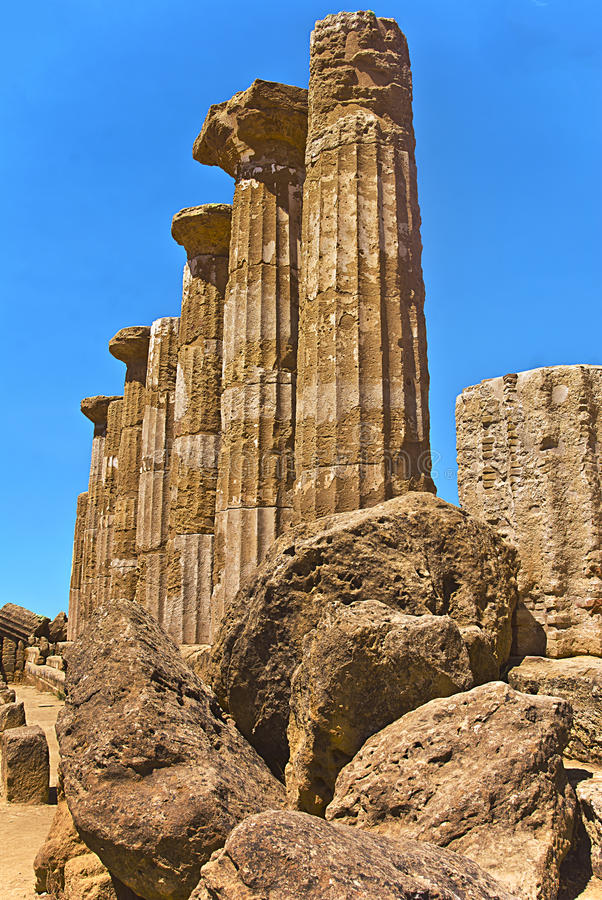 Dolina świątynie w Agrigento, Sicily, Włochy obraz royalty free