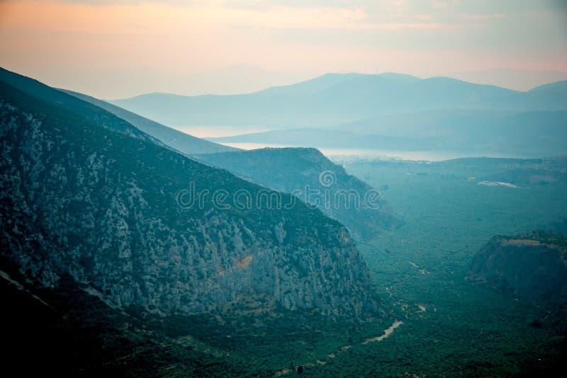 Dolina blisko Delphi obraz stock
