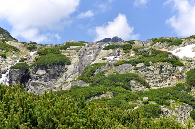 Dolina de Mlynicka, Vysoke Tatry (valle de Mlinicka, alto Tatras) - Eslovaquia fotos de archivo
