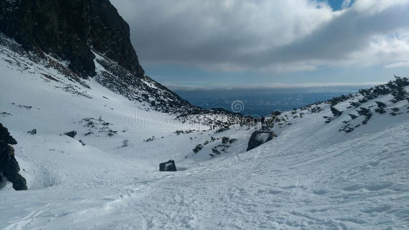 Dolina die van Slowakije Mlynicka int. wandelen de Hoogte - Tatras royalty-vrije stock foto's