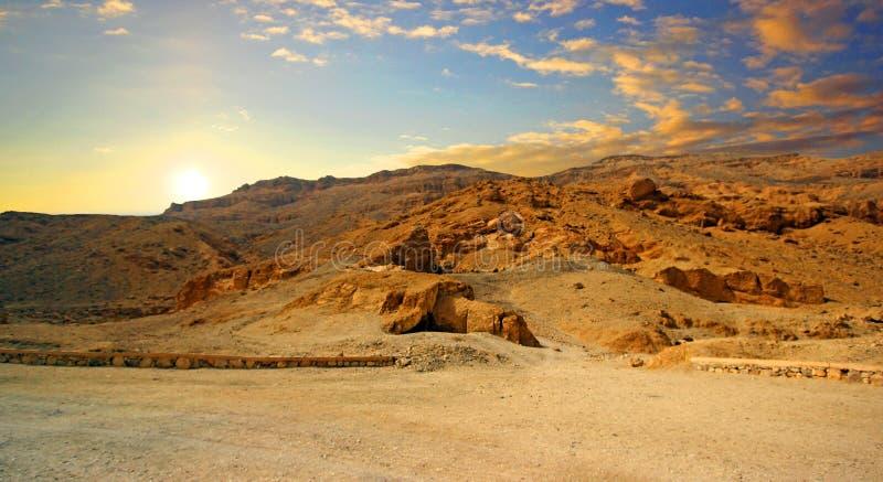 Dolina królewiątka, w Luxor Thebes Antycznym zachodnim banku zdjęcia stock