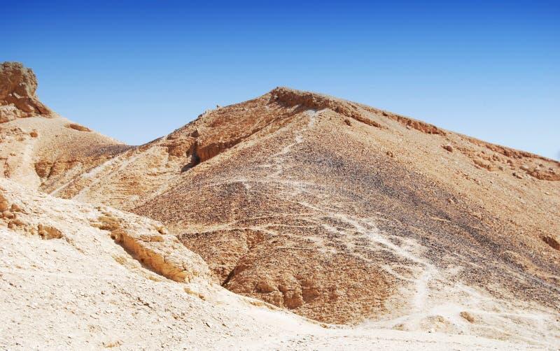Dolina królewiątka w pustyni przy Thebes blisko Luxor, Egipt zdjęcie stock