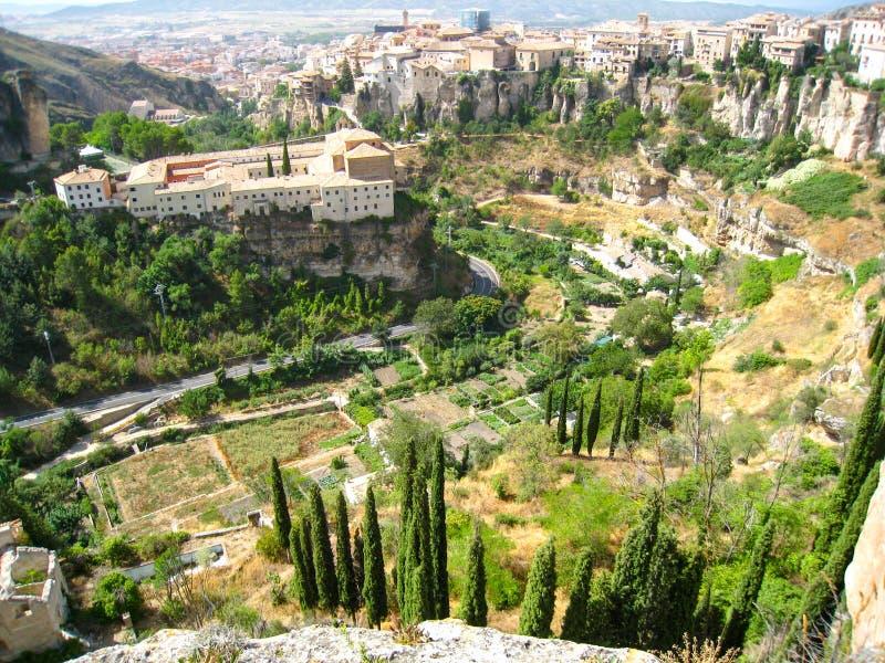Dolina krajobraz w mieście Cuenca zdjęcie royalty free