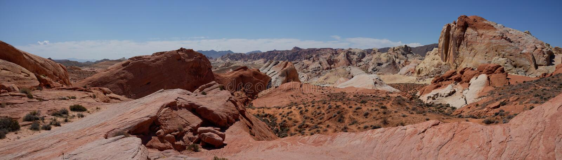 Dolina Pożarnicza stanu parka panorama (Nevada, usa) fotografia royalty free