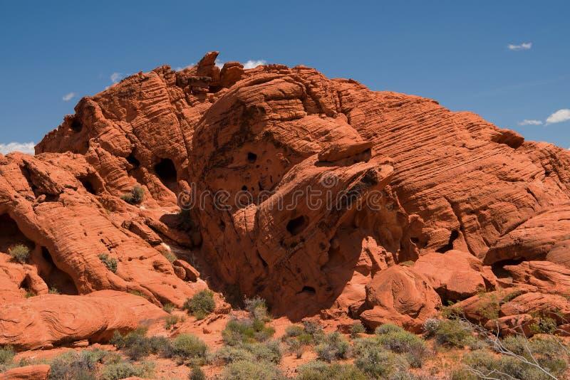 Dolina Pożarniczy stanu park, Nevada obrazy stock