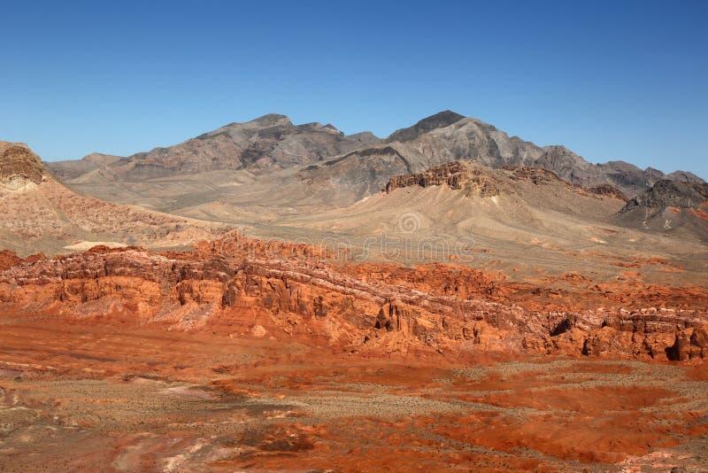 Dolina Pożarniczy stanu park, Nevada, usa obraz royalty free
