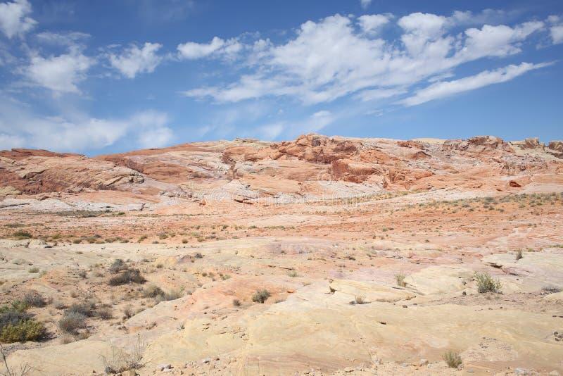 Dolina Pożarniczy stanu park w Nevada, usa obraz royalty free