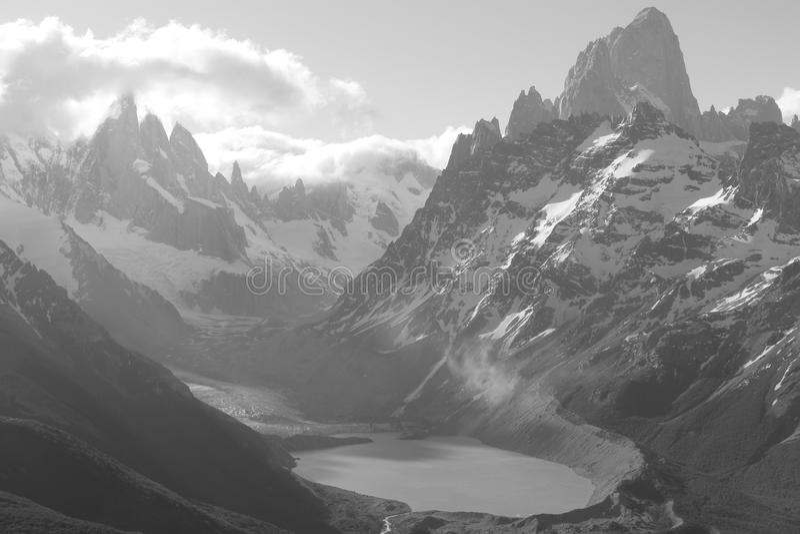 Dolina szczyty obraz stock