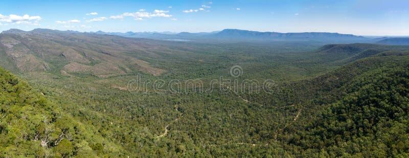 Dolina Wiktorii i jezioro Wartake z Reed Lookout w regionie Grampians w Wiktorii, Australia zdjęcie royalty free