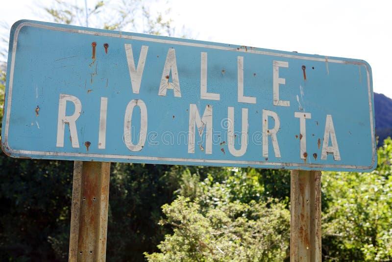 Dolina wzdłuż Carretera Austral, Chile obrazy royalty free
