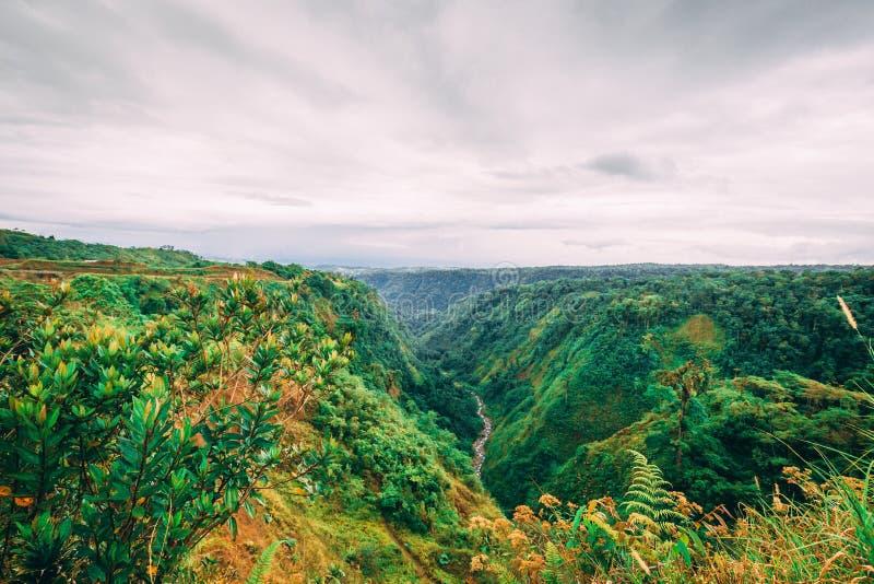 Dolinna panorama w Costa Rica obraz stock
