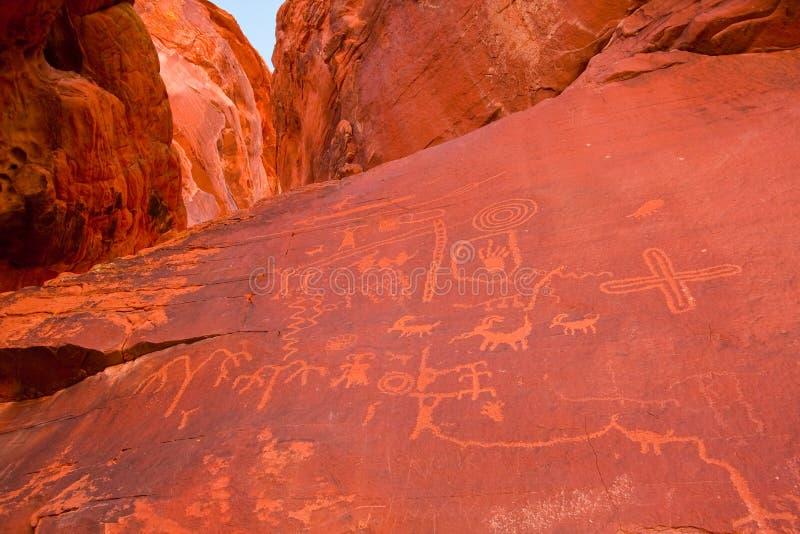 dolinni parkowi Nevada pożarniczy petroglify zdjęcia royalty free