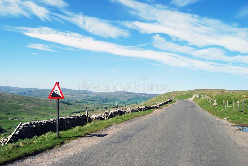 doliny opustoszały drogowy Yorkshire obrazy stock