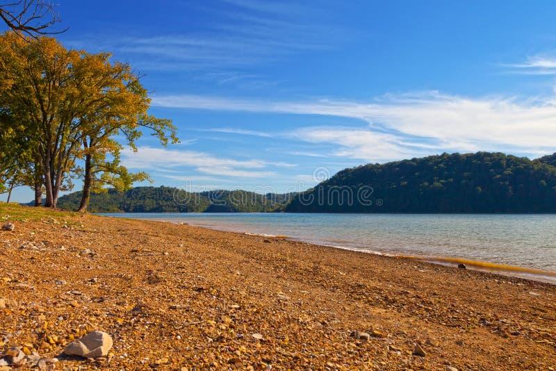 Doliny Wydrążenie jezioro fotografia stock