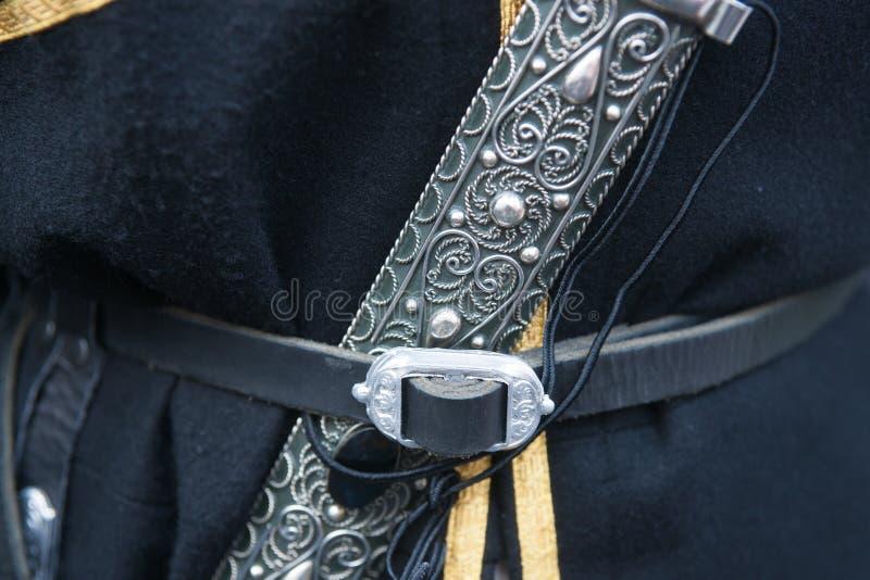 Dolk - een attribuut van een Kaukasisch mannelijk kostuum royalty-vrije stock foto's