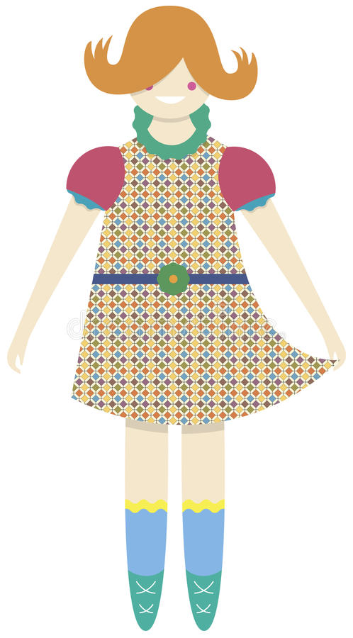 Doll vector illustratie