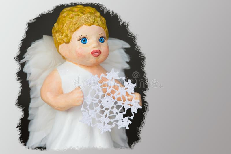 Doll angel stock photography