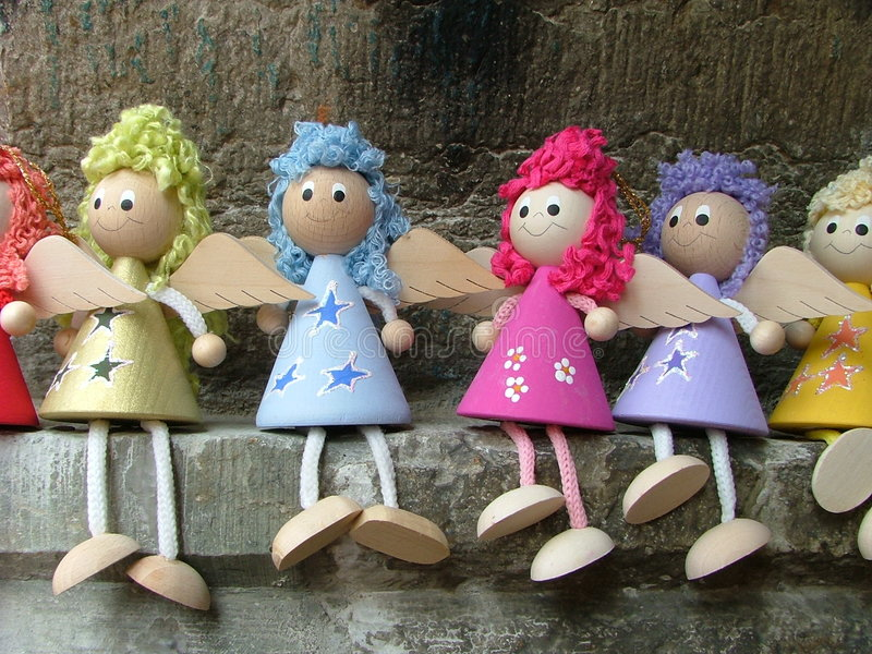 Download Doll angels stock photo. Image of handycraft, angel, work - 177632