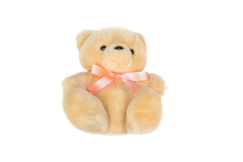 Doll Brown bear on white background. Toy for children stock images
