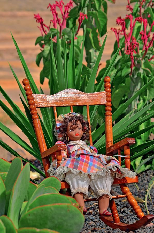Doll In The Dress At The Garden Stock Image - Image of object, cute ...