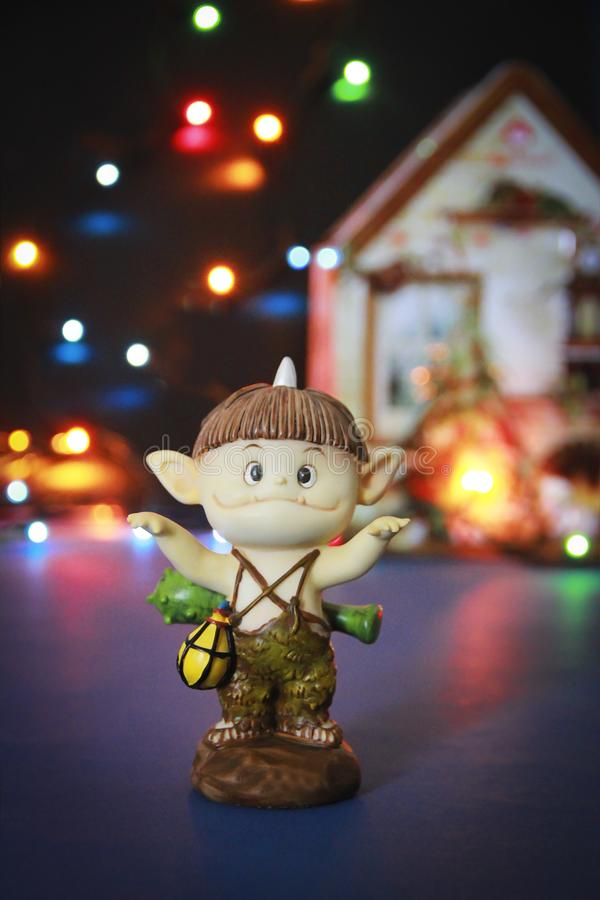 Doll gnome zombie monster figure for halloween holiday. Doll gnome zombie monster figure for halloween a holiday royalty free stock images