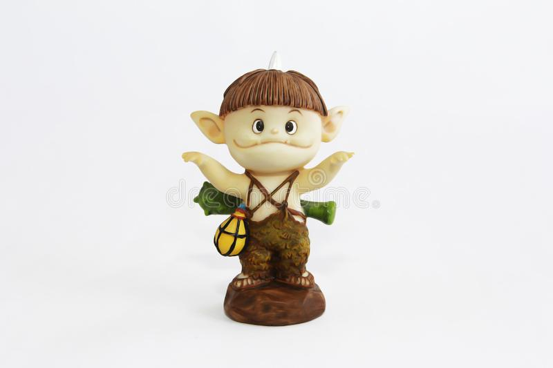 Doll gnome zombie monster figure for halloween holiday stock photo