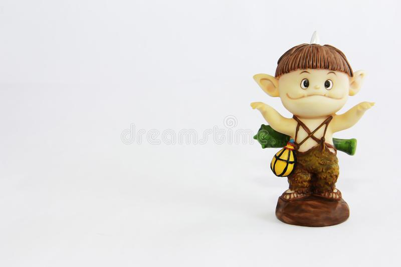 Doll gnome zombie monster figure for halloween holiday. Doll gnome zombie monster figure for halloween a holiday stock photo