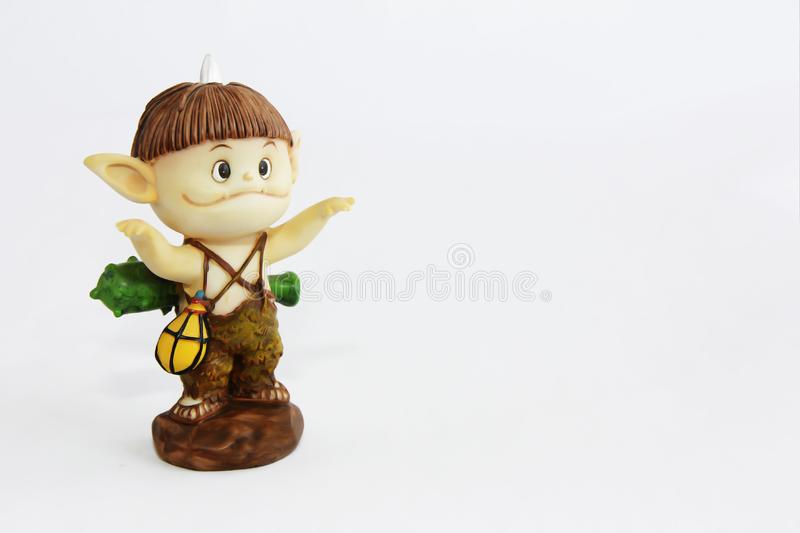 Doll gnome zombie monster figure for halloween holiday. Doll gnome zombie monster figure for halloween a holiday stock image