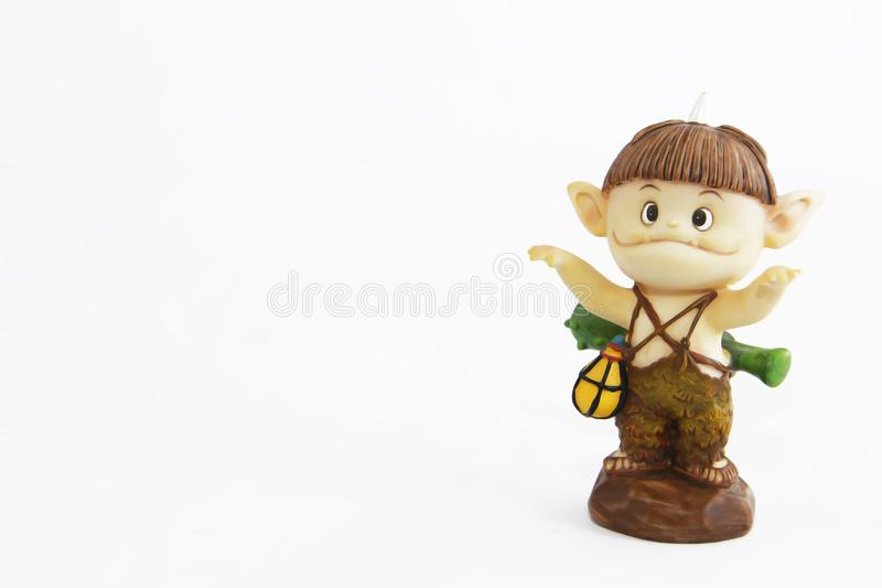 Doll gnome zombie monster figure for halloween holiday. Doll gnome zombie monster figure for halloween a holiday stock photos