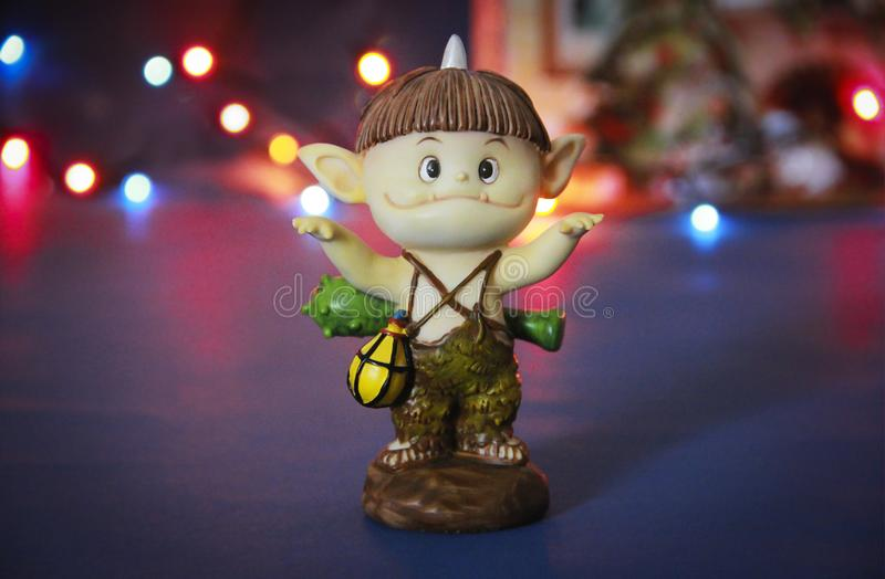 Doll gnome zombie monster figure for halloween holiday. Doll gnome zombie monster figure for halloween a holiday royalty free stock photo