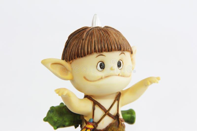 Doll gnome zombie monsterfigur för halloween semester royaltyfri bild