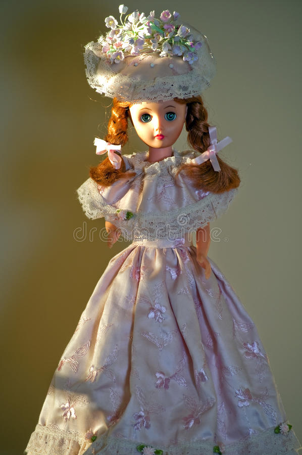 Download Doll In Handmade Pink Dress Stock Image - Image: 16964607