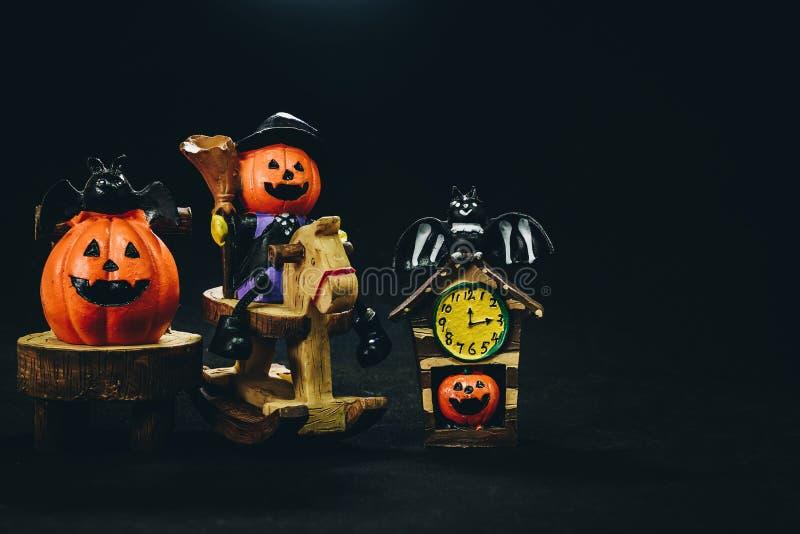 Doll head orange pumpkin`s happy holidays Halloween. Doll head orange pumpkin`s happy holidays Halloween royalty free stock photo