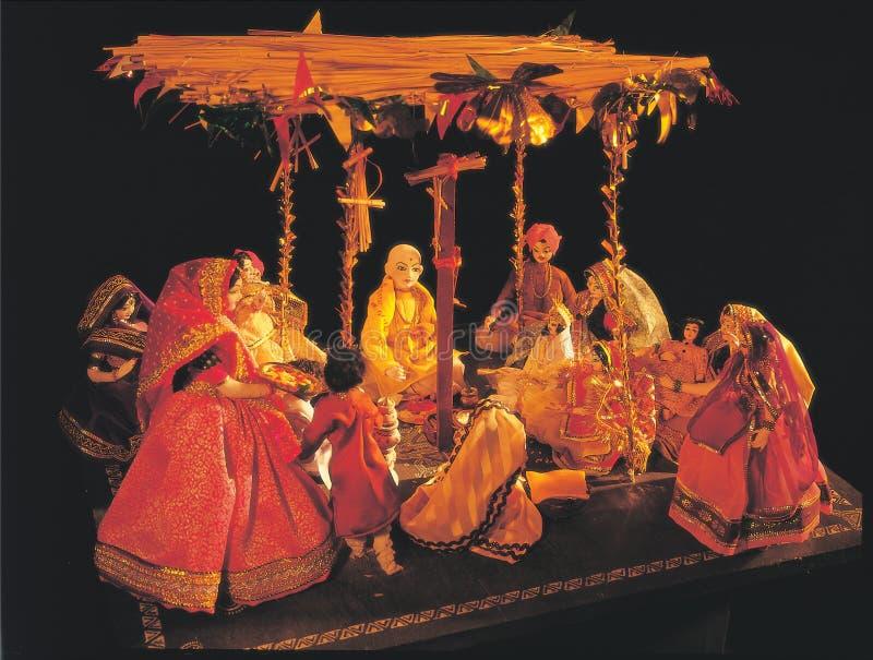 Doll - Hindoes Huwelijk royalty-vrije stock afbeeldingen