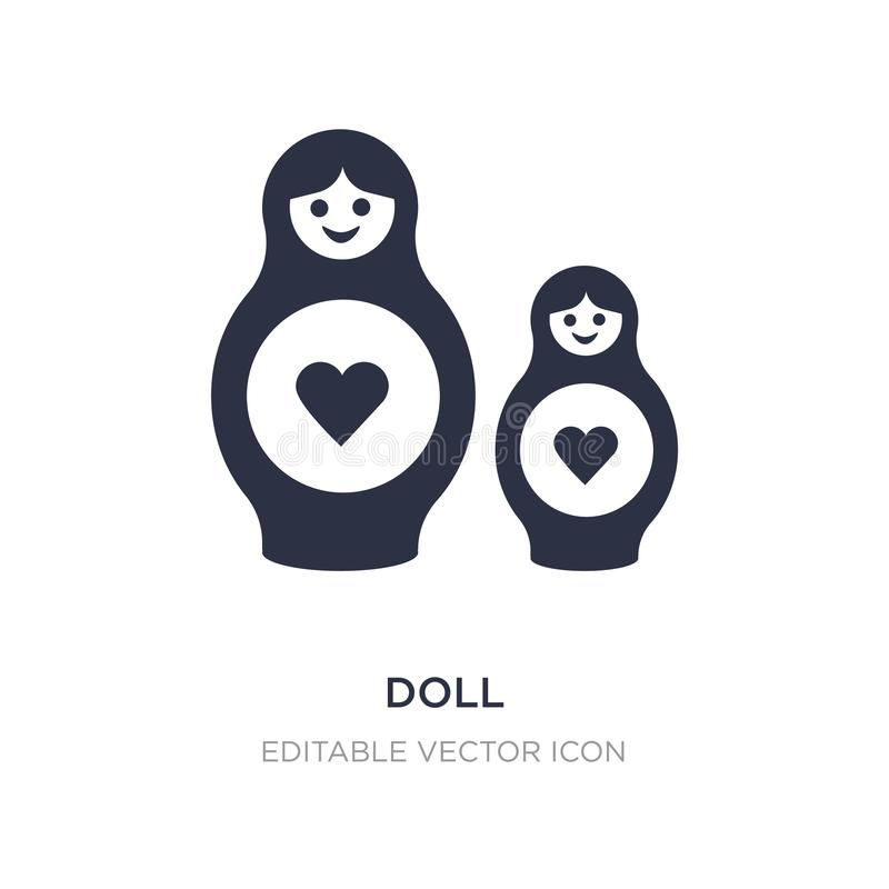 doll icon on white background. Simple element illustration from Halloween concept stock illustration