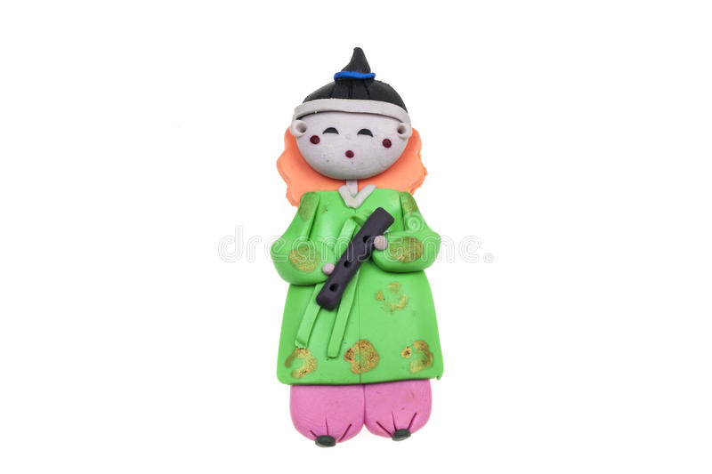 Doll Male Korea traditional souvenir. On a white background vector illustration