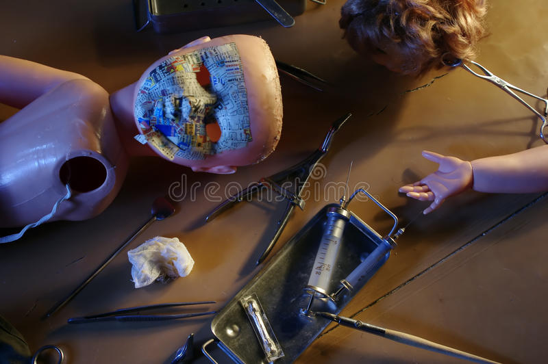 Doll master working place royalty free stock images