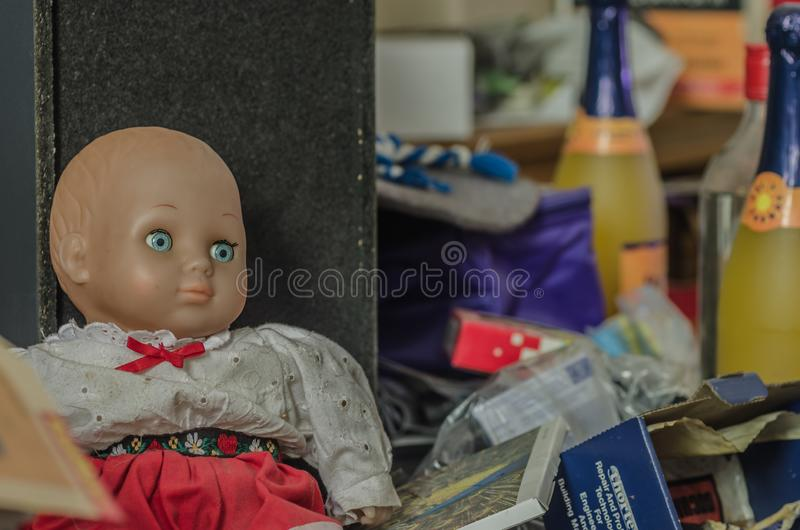 Doll met Grote Ogen stock foto's