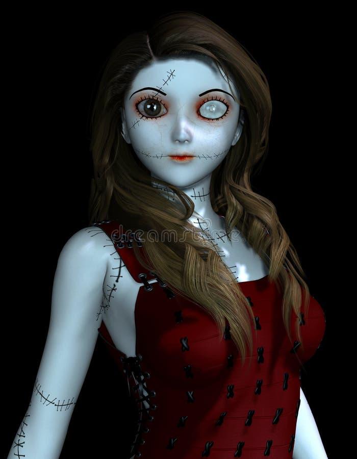 Doll met littekens royalty-vrije illustratie