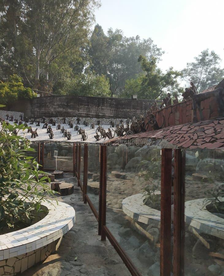 Rock Garden, Doll Museum, Chandigarh, India stock photo
