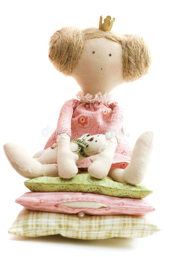 Doll Princess and the Pea. Baby Toy stock image