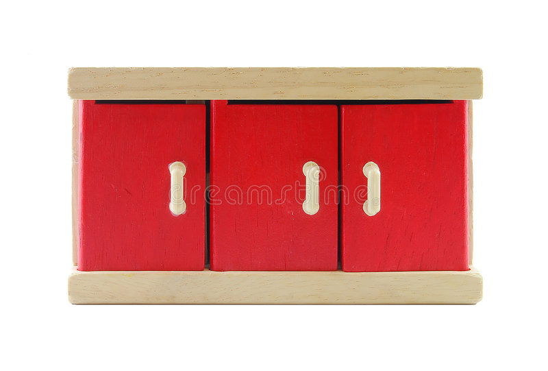 Doll's cabinet stock image