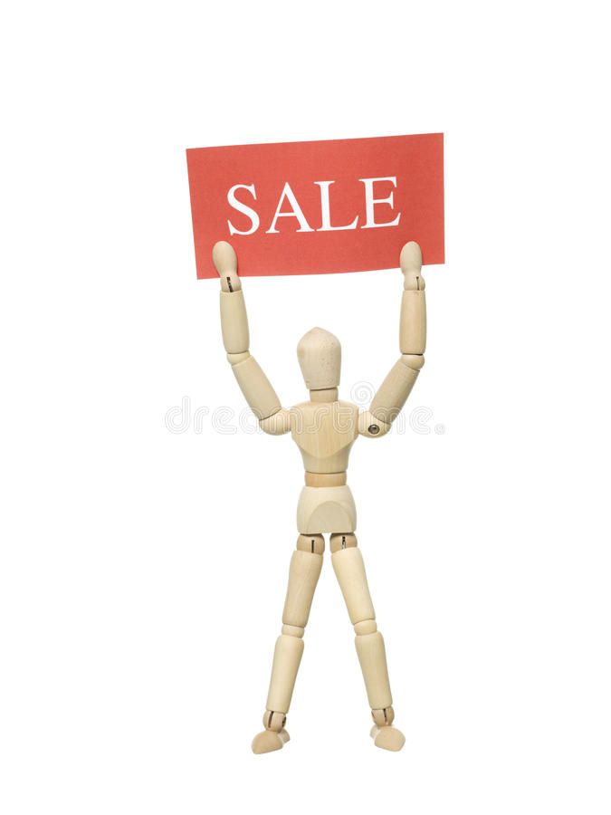 Download Doll with Sale Sign stock photo. Image of mannequin, background - 28062036
