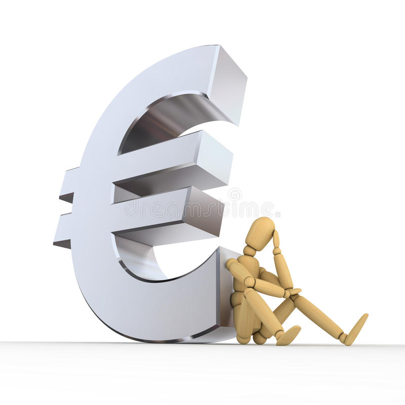 Download Doll Sitting At Euro Sign stock illustration. Illustration of money - 10007544