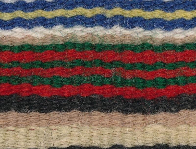 Doll tapijt door een jong geitje wordt gemaakt dat royalty-vrije stock foto's