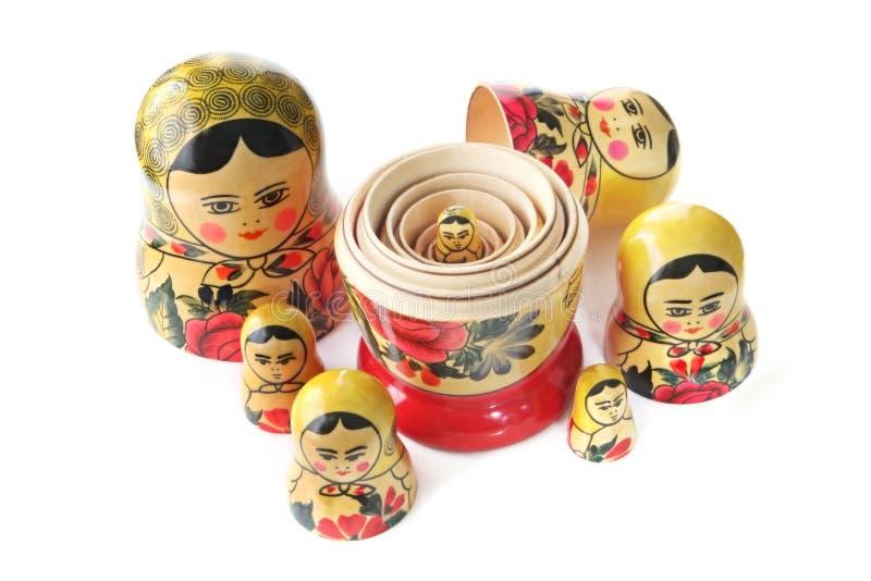 Doll van Babushka stock afbeeldingen