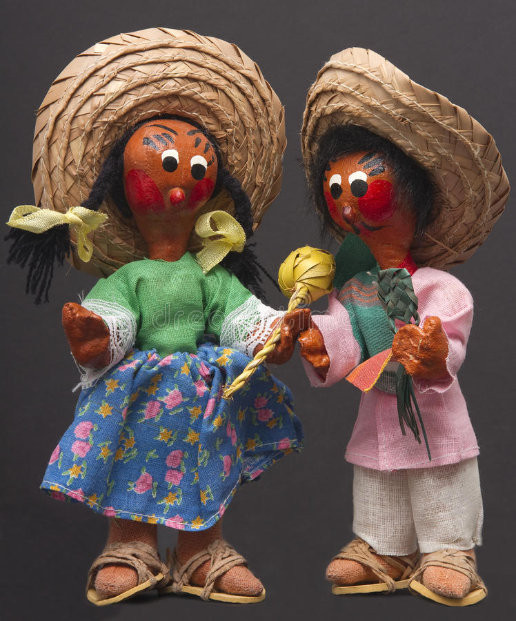Doll van de Danser van Mariachi stock fotografie