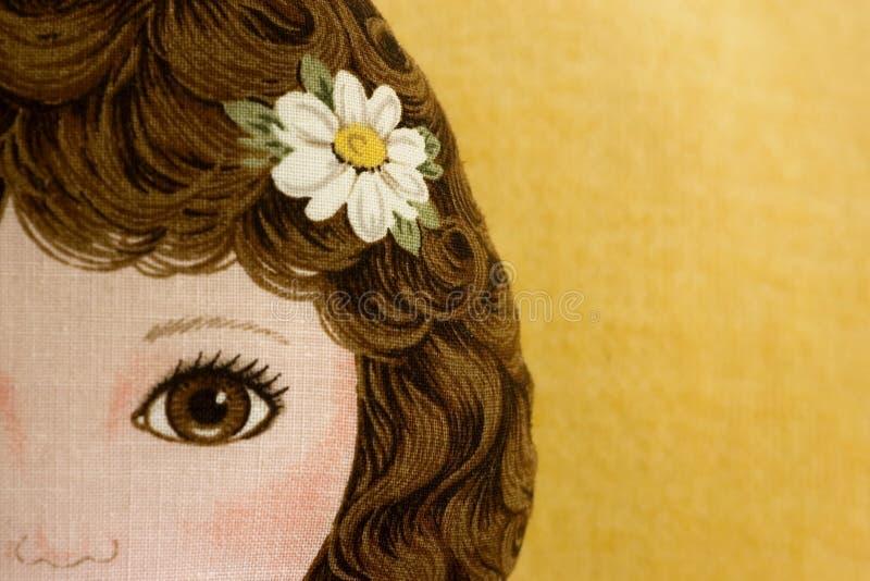 Doll van de doek royalty-vrije stock fotografie