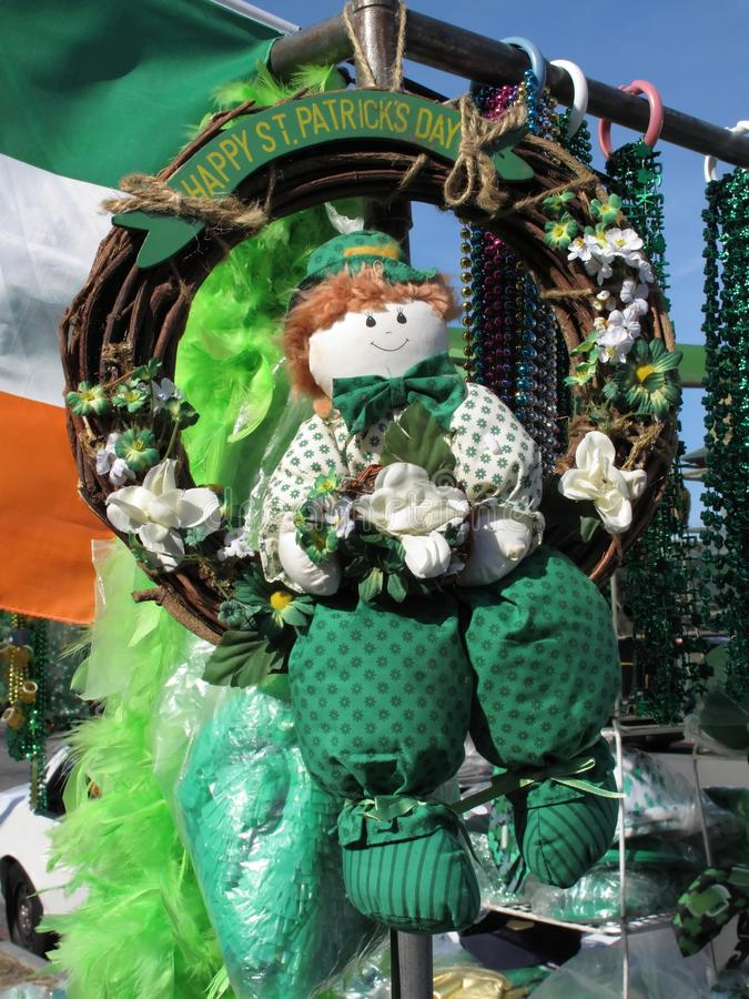 Doll van de kabouter voor St. Patrick Dag royalty-vrije stock foto
