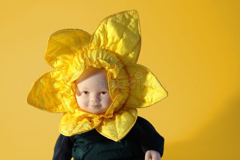 Download Doll van de zonnebloem stock afbeelding. Afbeelding bestaande uit gezicht - 35663